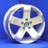 Литые диски Skoda A-5501 R15 6.0J ET:38 PCD5x100SF -MS 2